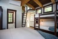 Ponderosa - Loft bedroom looking towards staircase and turret