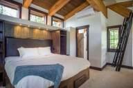 Ponderosa - Loft bedroom looking towards bathroom