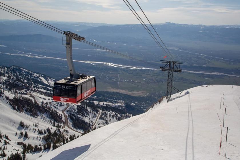 jackson hole, wyoming, aerial tram, big red