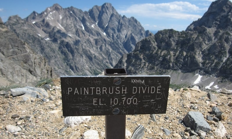 paintbrush divide, hiker fell, Grand Teton, Wyoming,