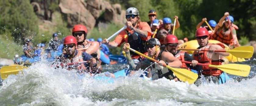 Veteran Expeditions rafting trip picture.