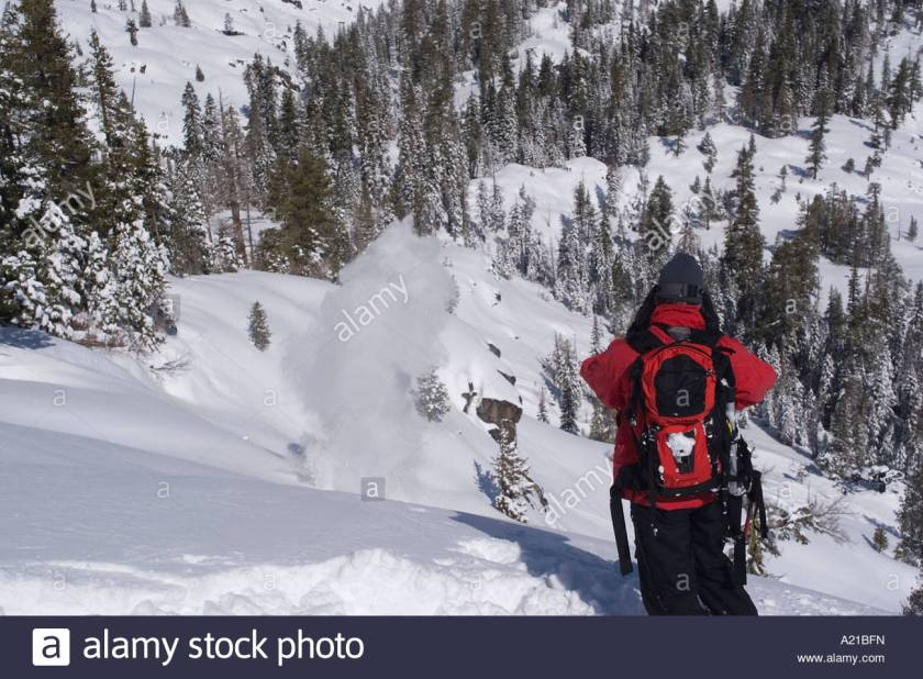 Ski patrol blasting for avalanches.