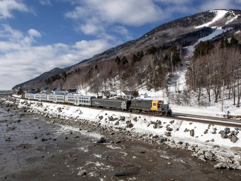 Train from Quebec City to Baie St Paul
