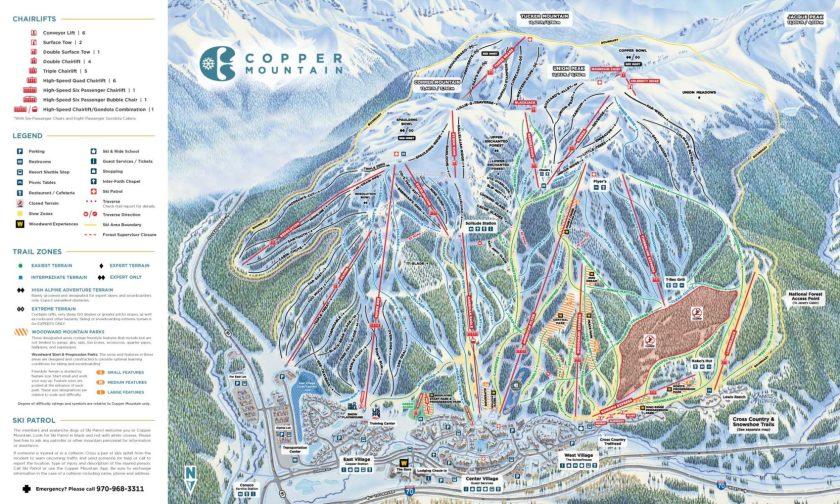 ski trail map copper mountain