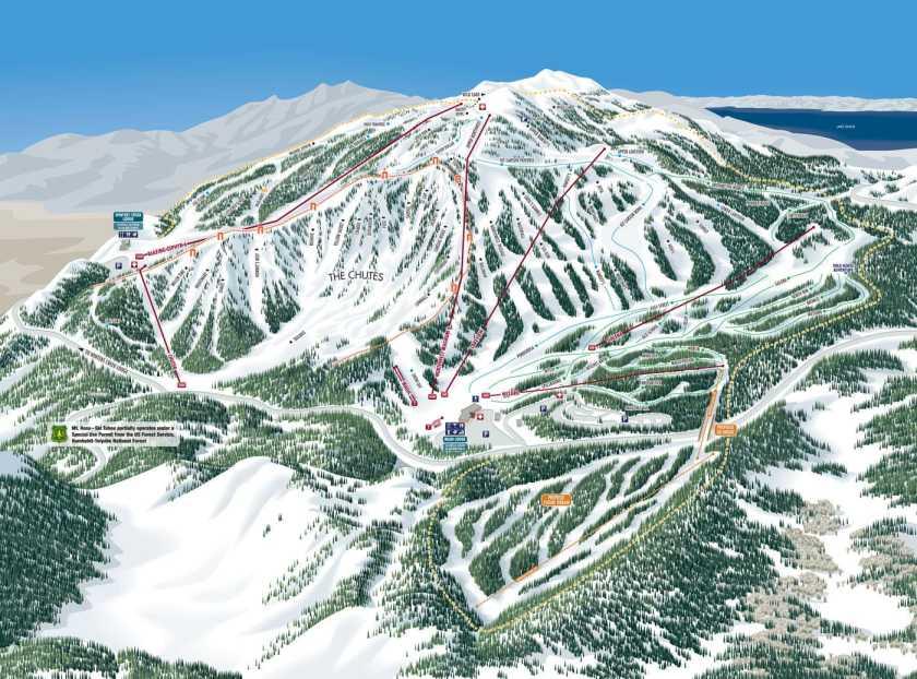 ski trail map mt rose