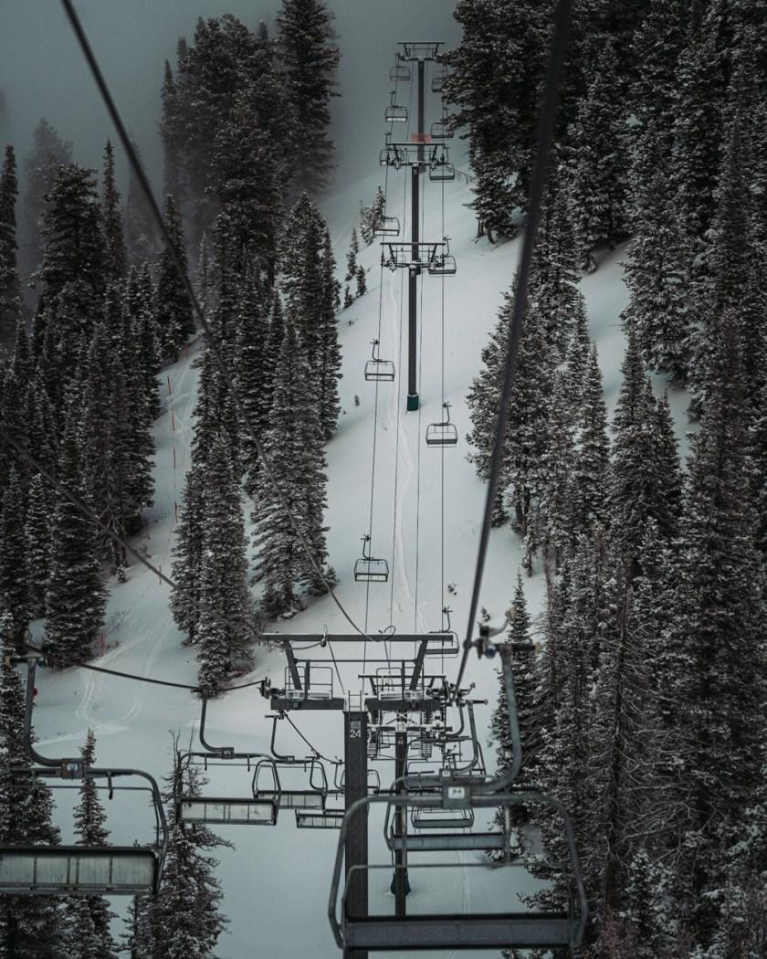 ski snowbasin chair lift