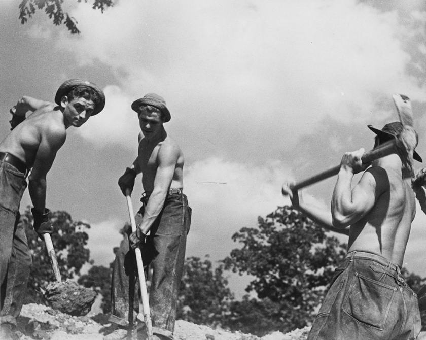 Civilian Conservation Corps at work