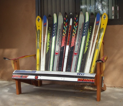 build adirondack chair with skis