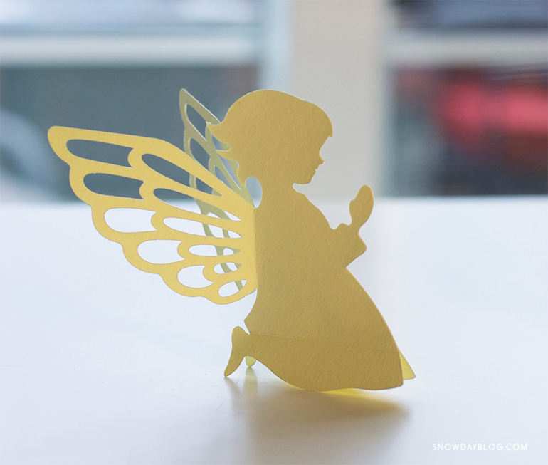 Girl Angel Yellow