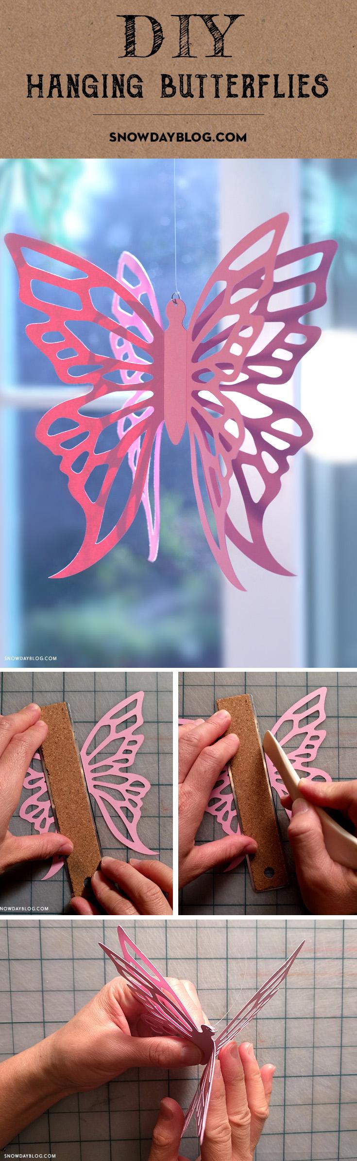 Hanging Butterflies Pinterest Pink