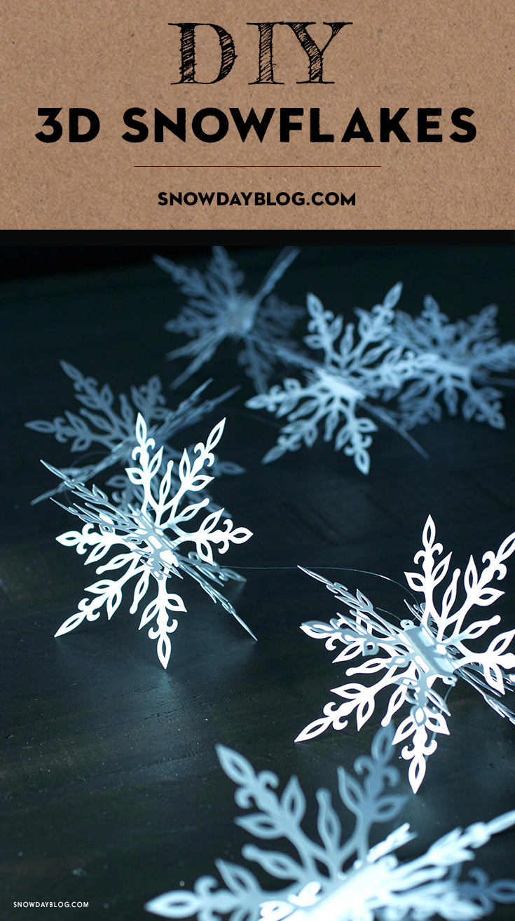 Snowflakes Garland on Black Table