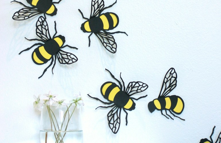 DIY Bee Stickers