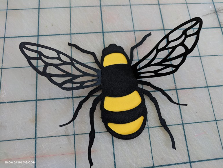 DIY Bee Stickers tutorial