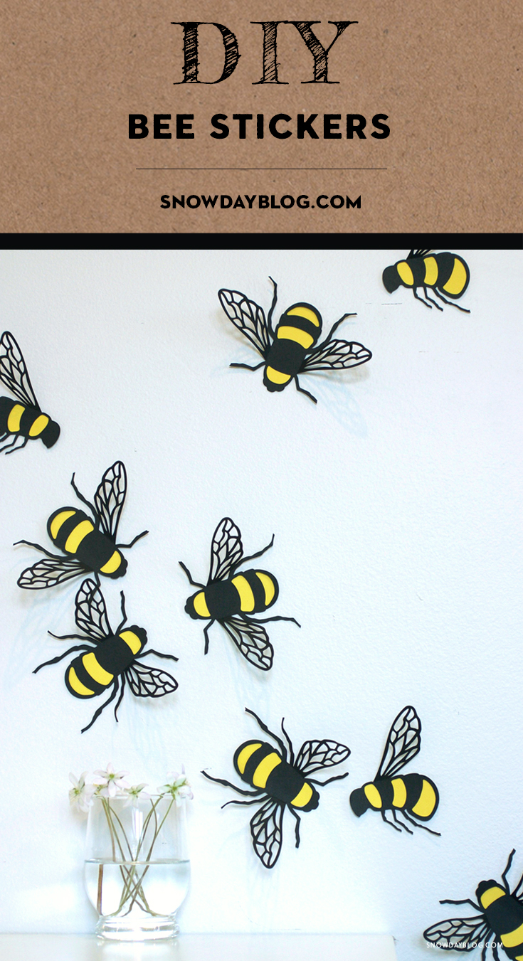 DIY Bee Stickers party decoration bee theme