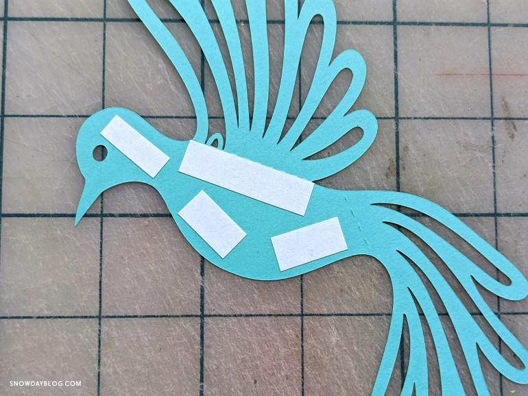 dove cutouts with tape, dove craft