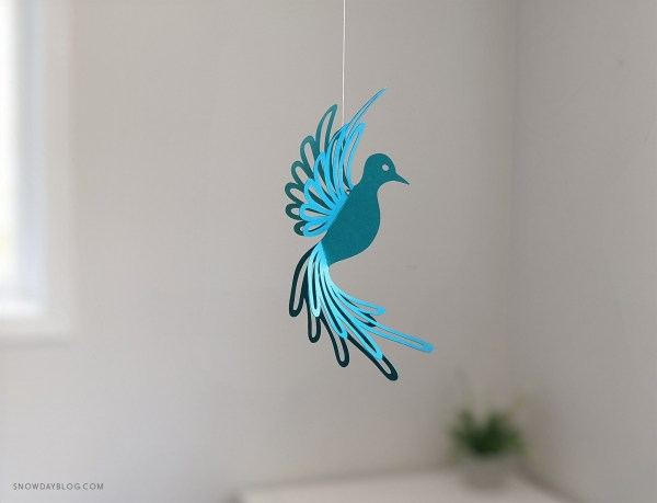 Teal dove, hanging dove, dove craft, diy dove