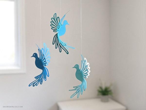 Dove, dove SVG, dove craft, hanging doves, dove decoration, diy dove, bird decor