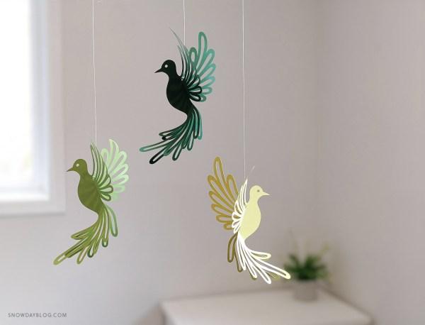 Dove, dove SVG, dove craft, hanging doves, dove decoration, diy dove
