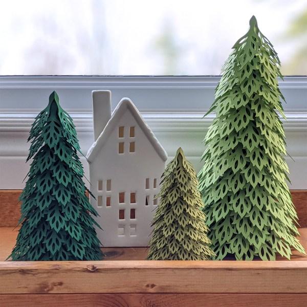 Woodland Christmas Trees SVG