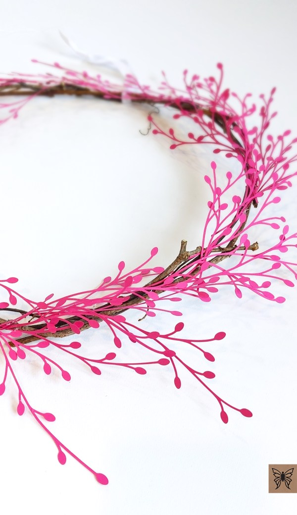 bud wreath close up