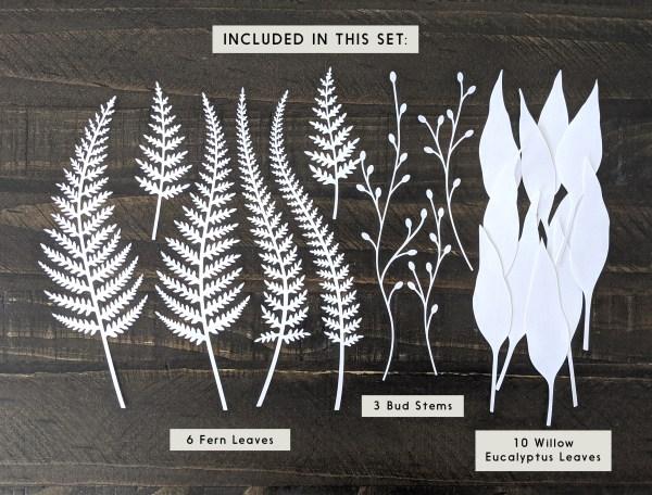 leaves svg, paper leaves, leaf cutouts, fern leaves, leaf templates, vector leaves