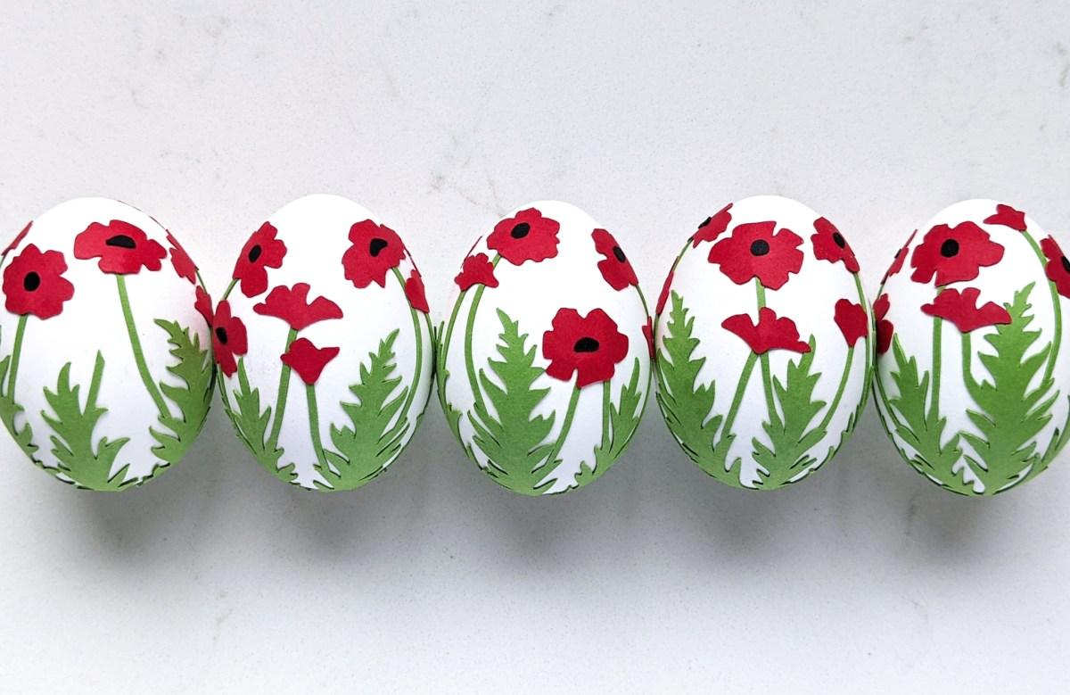 Easter Egg Decoration Poppy Wrap SVG, Easter craft