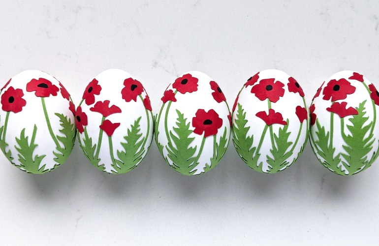 Easter Egg Decoration Poppy Wrap SVG, Easter craft