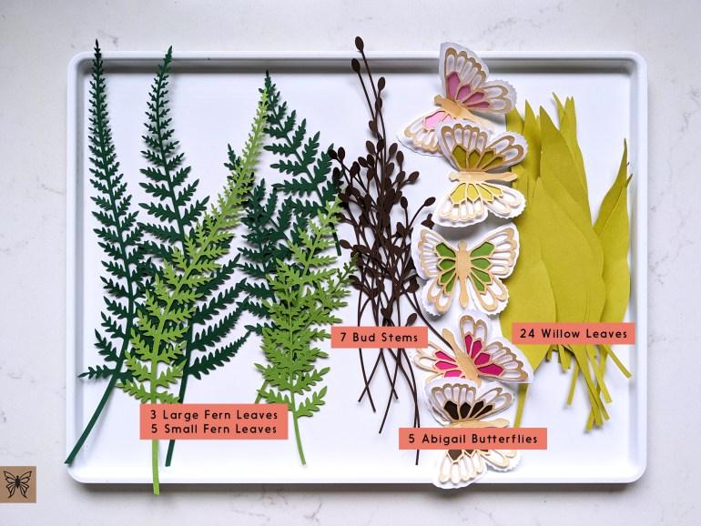 Spring wreath cutouts