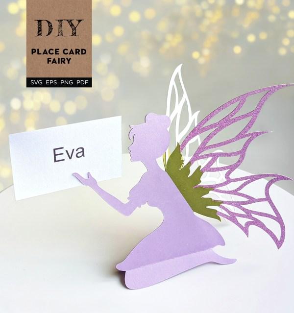Place Card Fairy SVG