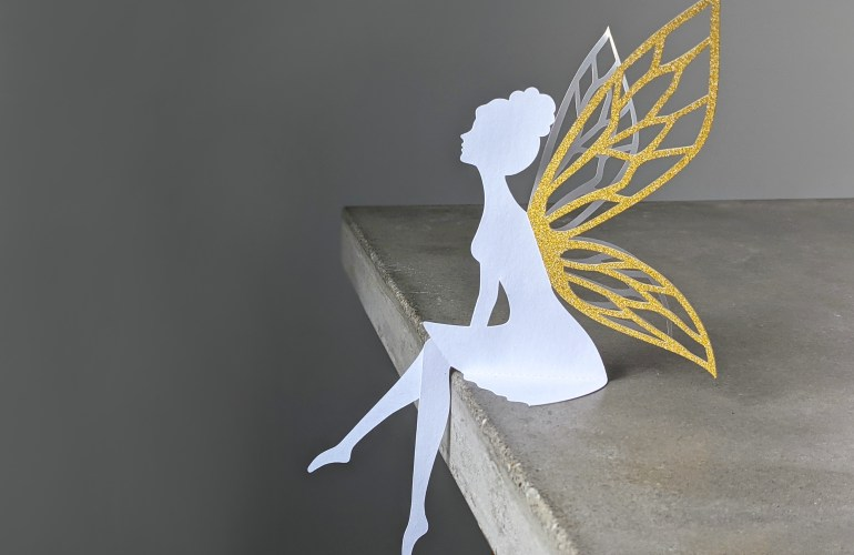 table top fairy svg, party table fairy decoration