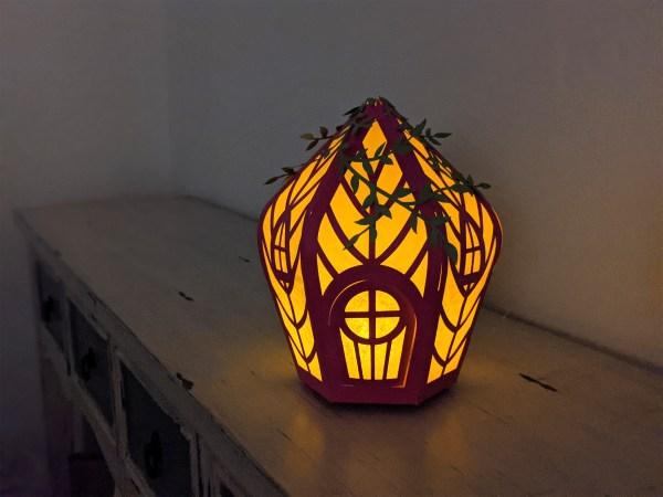 fairy house lantern, fairy house svg lit up