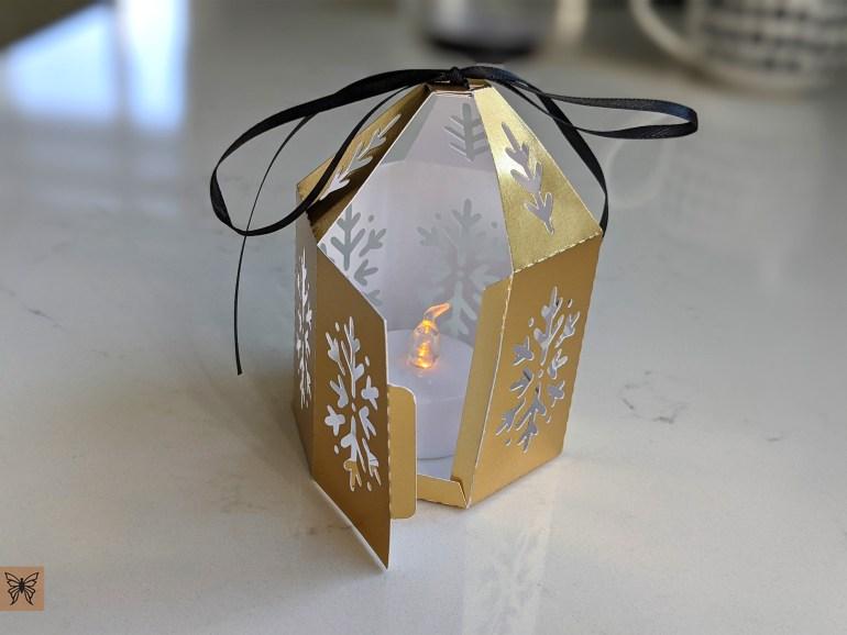 DIY Christmas Lantern, Tea light holder