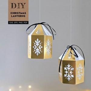 Christmas Lanterns SVG