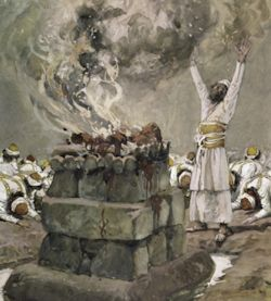 Fire from Heaven Consumes the Sacrifice. James Tissot 1836 - 1902.
