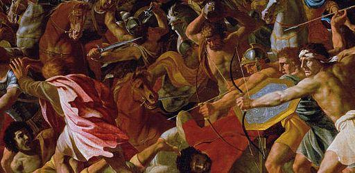 Victory of Joshua over the Amalekites - Nicolas Poussin c.1625