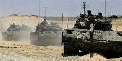 Israeli tanks invade Gaza.