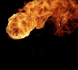 Fireball, stock photo.