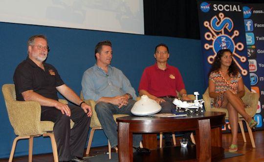 Science and Engineering panel: Rob Manning, Adam Stelzner, Steve Lee, Anita Sangupta. Photo by Brad Snowder