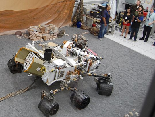Please don't feed the Earth Rover. Photo by Brad Snowder.