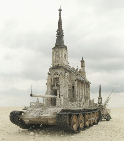 Churchtank. Sculpture by Kris Kuksi 2010.