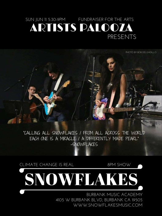 Second Sunday Snowflakes Poster