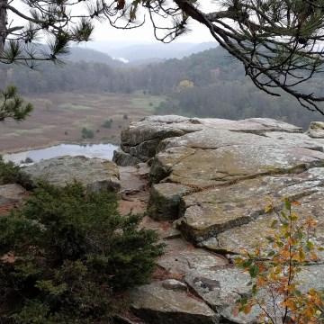 Cliff overlooking the beautiful lands surrounding Bethel Horizons
