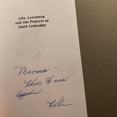 Helen's book with her signature and note for Marissa