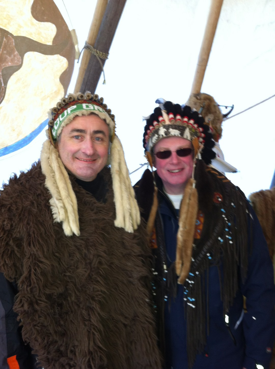 My New Year clients enjoying the Indians run in Courchevel 1650!