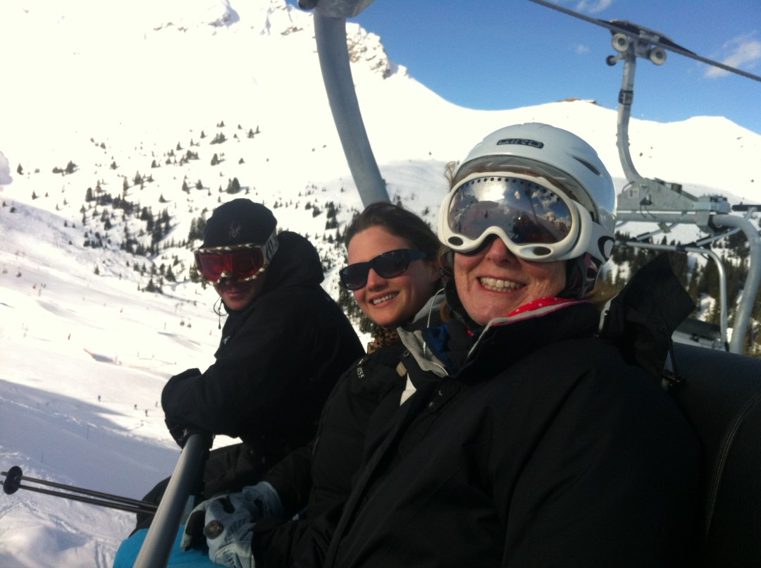 Skiing with my mum, and good friends Izzy and Tim!