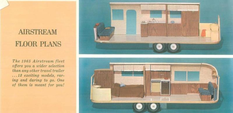 The original floor plan of our 1965 Airstream Overlander International