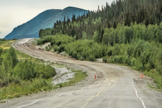 Alaska road frost heaves
