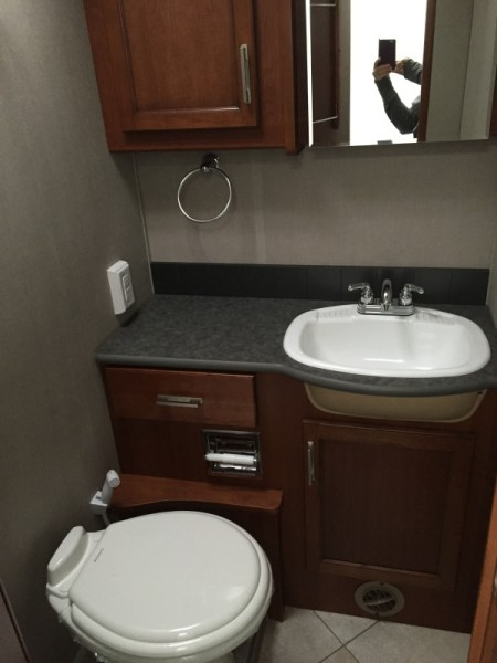 Trek RV bathroom