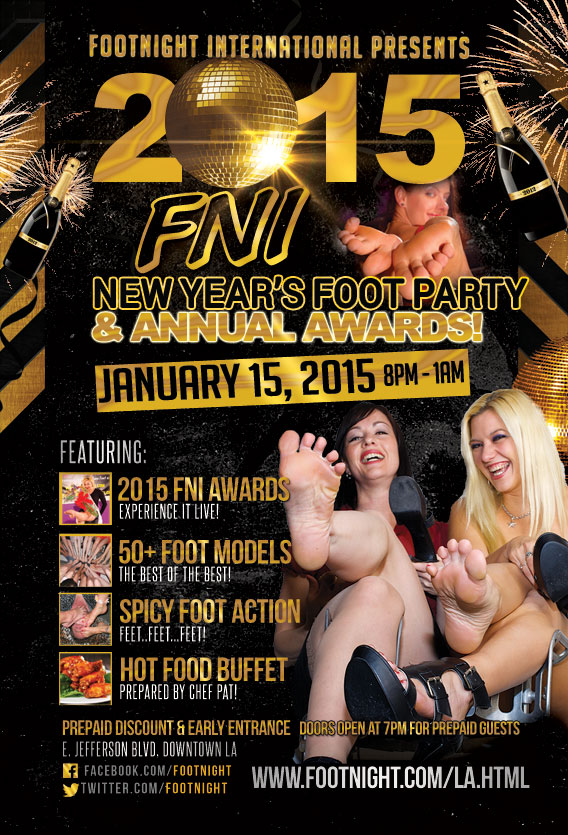 I will model at the January 15, 2015, Footnight Awards Party.  Don't miss out!