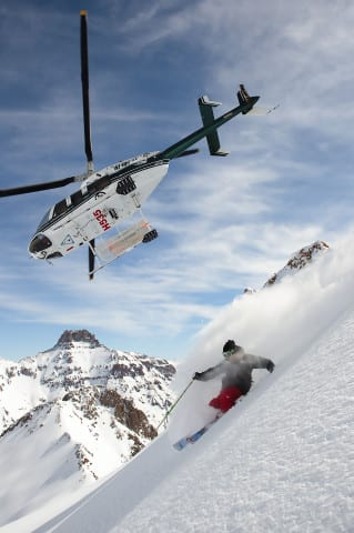 Tanner Rainville skis in the San Juans with Telluride Helitrax.